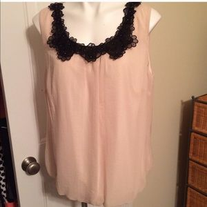 Dress Barn Appliqué Trimmed Sleeveless Blouse Sz1X